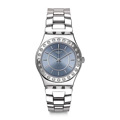 Swatch BLUEDABADI 澄透水晶手錶