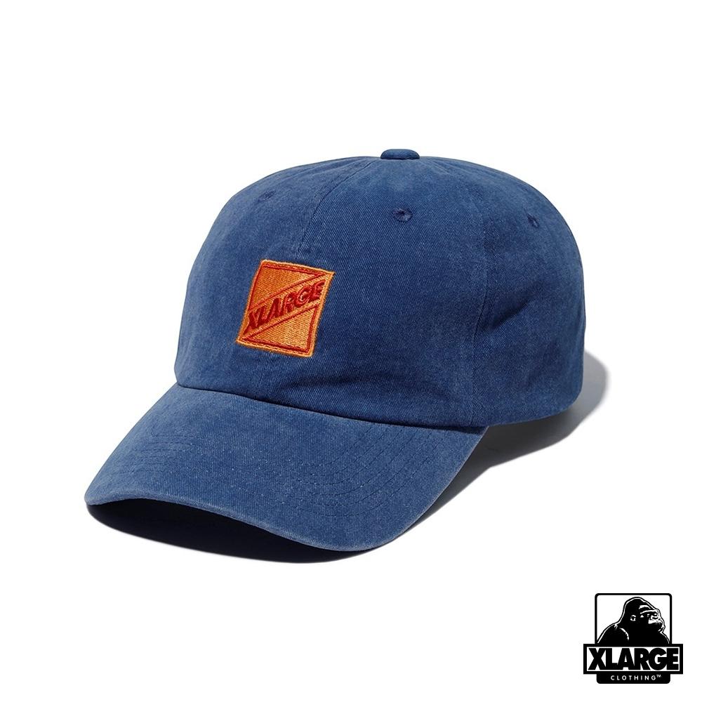 XLARGE PIGMENT CAP丹寧布棒球帽-藍