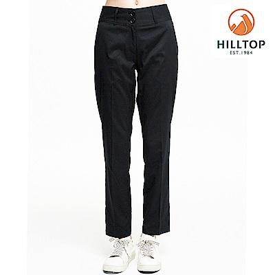 【hilltop山頂鳥】女款超潑水抗UV彈性長褲S07FH2黑美人灰