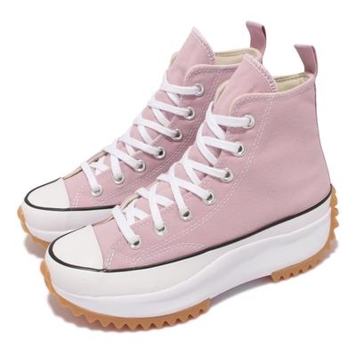 Converse 休閒鞋 Run Star Hike 厚底 男女鞋 經典款 帆布 增高 情侶穿搭 球鞋 粉 白 171668C