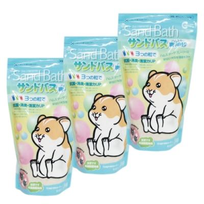 CANARY - 小動物抗菌沐浴砂-無香味-1kg裝-3包組(鼠砂)