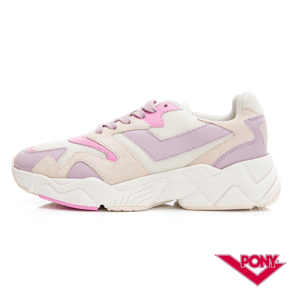 【PONY】MODERN 2系列-玩轉撞色潮流運動鞋 老爹鞋 球鞋 女款 粉紅紫