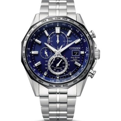 CITIZEN星辰 GENT S 商務光動能電波計時腕錶(AT8218-81L)-44mm
