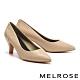 高跟鞋 MELROSE 復刻時尚菱格紋造型尖頭高跟鞋-米 product thumbnail 1