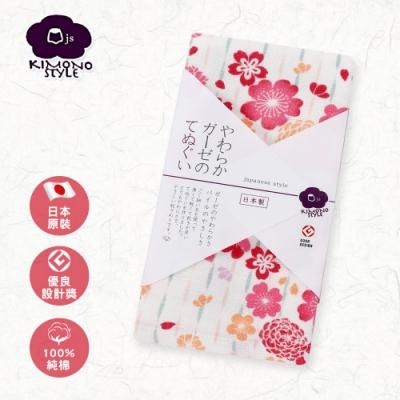 【日纖】日本泉州純棉長巾-花簇 34x90cm