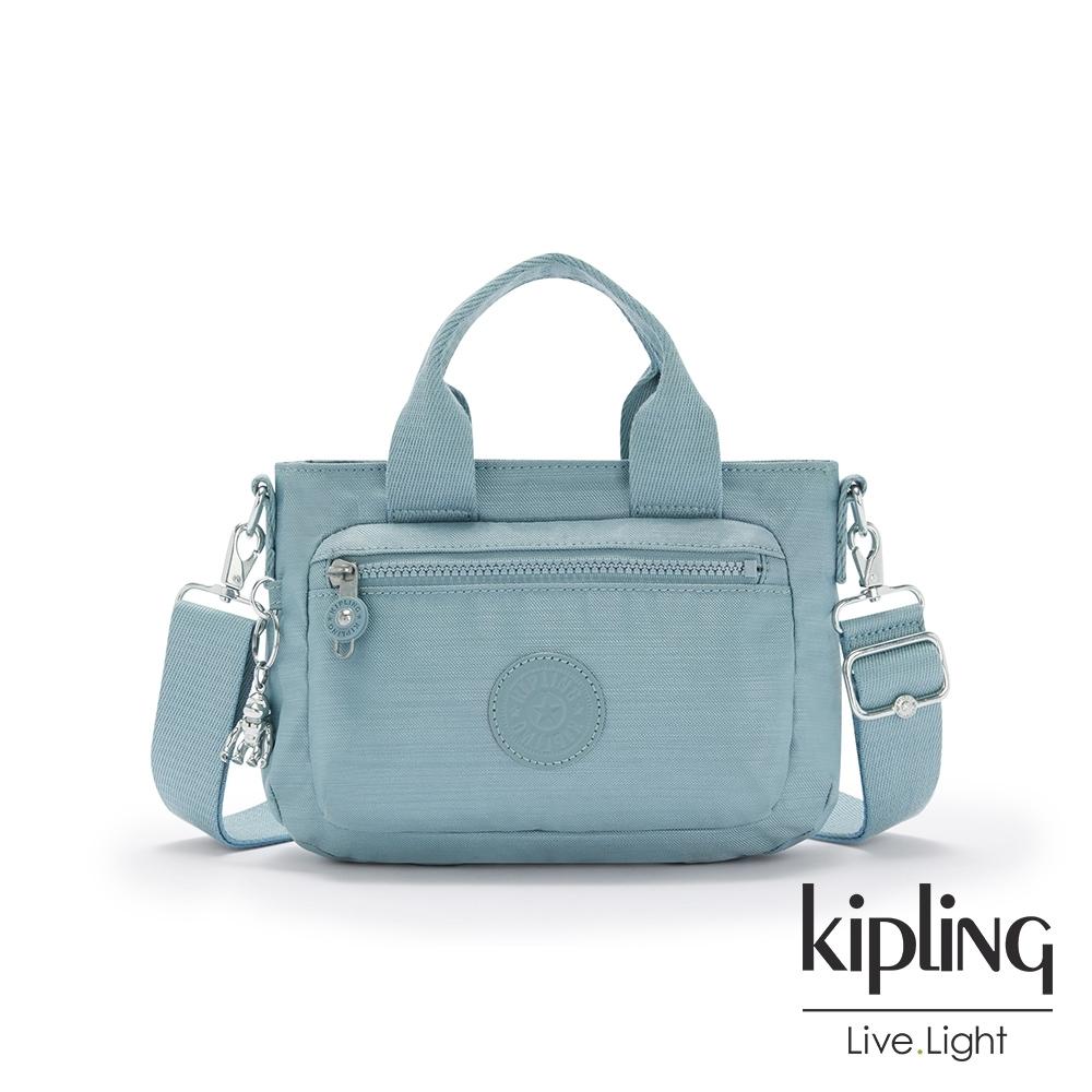 Kipling 寧靜海洋藍簡約大方手提肩背包-MIHO MINI