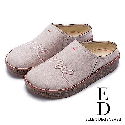 ED Ellen DeGeneres 舒適休閒絨面動物厚底便鞋-絨米