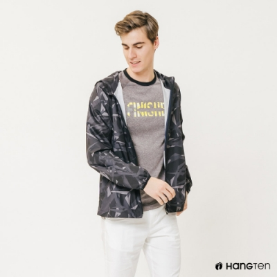 Hang Ten-ThermoContro-男裝迷彩防風外套-蕭青陽設計款-黑