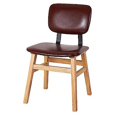 AS-蘇珊酒紅皮餐椅45x47x84cm