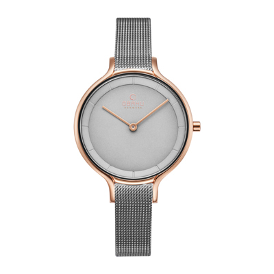 OBAKU 現代工業設計極簡曲線腕錶-灰(V228LXVJMJ)/32mm