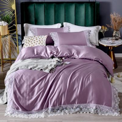 Betrise 加大 蕾絲系列 300織紗100%純天絲防螨抗菌四件式兩用被床包組