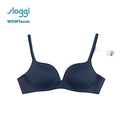 sloggi WOWTouch系列 下厚上薄罩杯無鋼圈內衣 霧夜藍