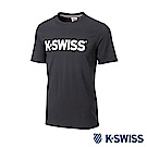 K-SWISS Crew Neck Jersey Tee印花短袖T恤-男-黑