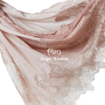 【ANGEL WOOLEN】絕色四面法式蕾絲印度手工披肩(共兩色)