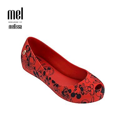 Melissa X Mickey 款娃娃鞋兒童款-紅色