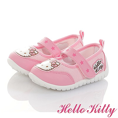 HelloKitty 輕量透氣抗菌防臭室內外娃娃童鞋-粉