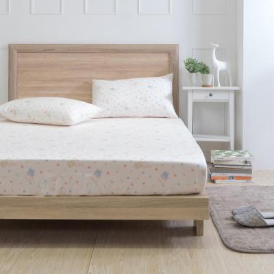 GOLDEN-TIME-甜蜜小熊-200織紗精梳棉三件式床包組(雙人)