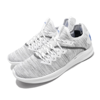 Puma 慢跑鞋 Ignite Flash 襪套 運動 男鞋 輕量 透氣 舒適 避震 路跑 健身 穿搭 灰 白 19050828