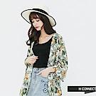 H:CONNECT 韓國品牌 女裝-夏日印花開襟罩衫-白