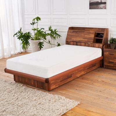 時尚屋 亞維斯3.5尺積層木加大單人後掀床(不含床箱-床頭櫃-床墊)