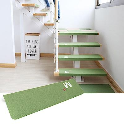半島良品 加長版夜光樓梯止滑墊1入- 字母M 綠色