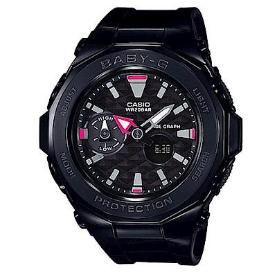 BABY-G海灘豪華露營概念風格休閒運動錶( BGA-225G-1A)黑X黑框45.5mm