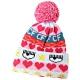 Chiara Ferragni Norwegian 多彩圖騰毛球美麗諾針織羊毛帽 product thumbnail 1