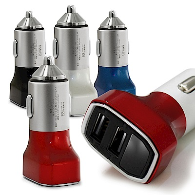 HANG 鋁合金 3.4A 雙USB電壓顯示快速車充頭