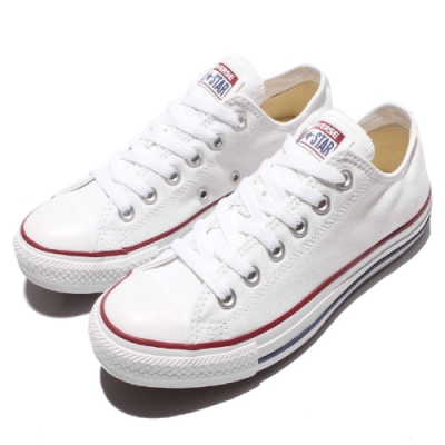 CONVERSE ALL STAR 男女款 低筒帆布鞋-白 M7652C