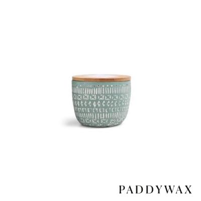 PADDYWAX 美國香氛 Sonora系列 月桂佛手柑 原木蓋復刻浮雕陶罐 85g