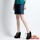 BRAPPERS 女款 女垮褲系列-寬鬆五分褲-藍