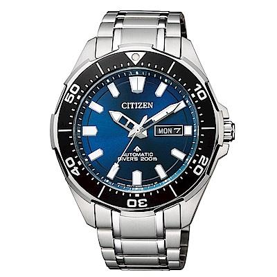 CITIZEN 星辰PROMASTER 黑藍風采潛水運動流線腕錶(NY0070-83L)