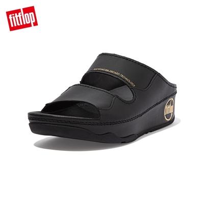 FitFlop SHUV SLIDES 簡約造型雙帶涼鞋-女(靓黑色)