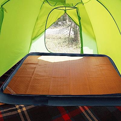 凱蕾絲帝-台灣製造-天然舒爽露營充氣床專用涼蓆(280x186cm)