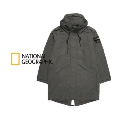 NATIONAL GEOGRAPHIC 男 PERUS Fish Tail Long JP 長大衣 卡其綠-N203MJP010058