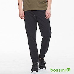 bossini男裝-輕鬆彈性束口長褲01黑