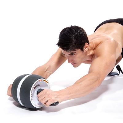 自動回彈靜音核心訓練健腹滾輪附跪墊.人魚縣六塊腹肌核心肌群收復迴力健美輪健身器材