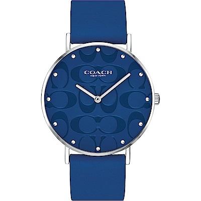COACH Sig C 摩登美式Logo錶盤女錶(14503299)-藍/36mm