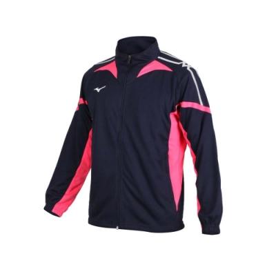 MIZUNO 男針織運動外套-立領外套 慢跑 路跑 美津濃 抗UV 吸汗速乾 32TC053514 丈青玫紅白