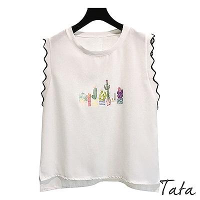 仙人掌印花上衣 TATA