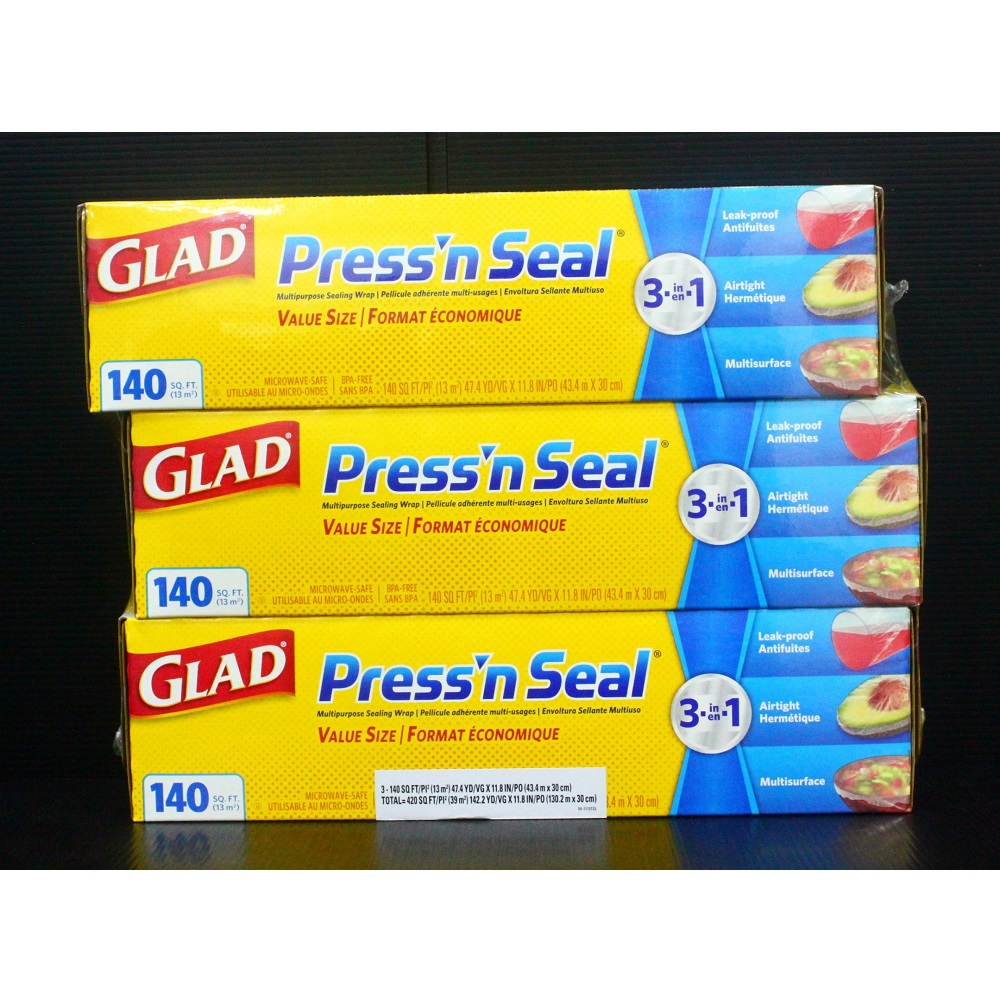 Glad Press n Seal 強力保鮮膜(3入)