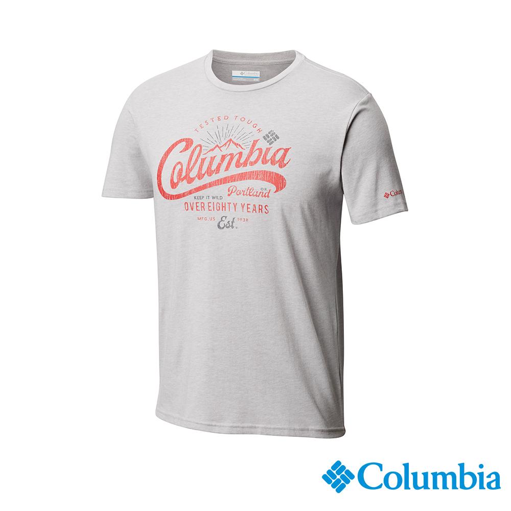 Columbia哥倫比亞 男款-印花T-Shirt-灰色 UAE07290GY