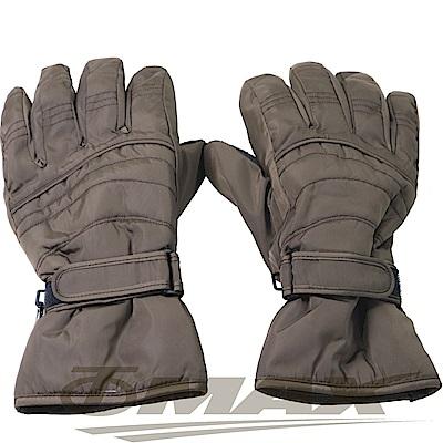 OMAX帥氣防寒防潑水機車手套-男用-咖啡色-快