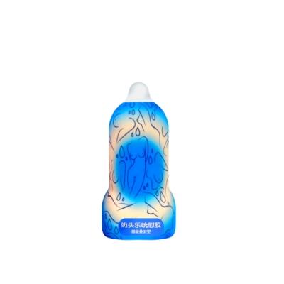 Leten-奶頭樂吮吸飛機杯-層層疊浪型 藍