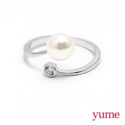 YUME 珍珠小鑽戒指