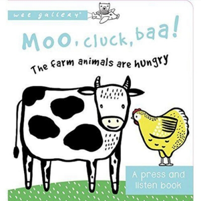 Moo,Cluck,Baa!The Farm Animals Are Hungry 音效書