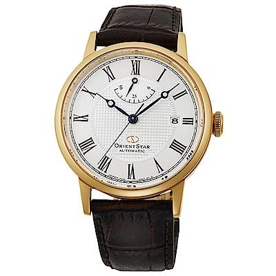 ORIENT  東方之星羅馬時標手動機械錶-金框x38.6mm