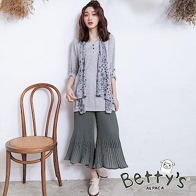 betty's貝蒂思 素色鬆緊百摺飄逸寬褲(深綠) @ Y!購物