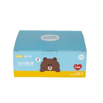 熊大 醫療3D立體口罩(未滅菌)-L款同色(25入x2盒) 4色任選