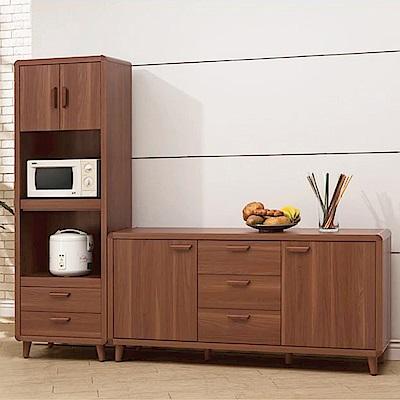 D&T德泰傢俱 愛維斯北歐生活7.3尺餐櫃組-220x40x184cm